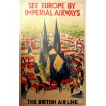 Travel Poster See Europe by Imperial Airways