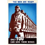 War Poster The Men Are Ready WWII Pilots Canada