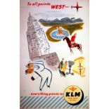 Travel Poster KLM Royal Dutch Airlines