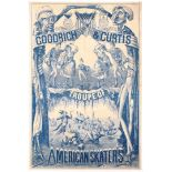 Original Vintage Advertising Poster Goodrich Curtis Circus Ice Skating