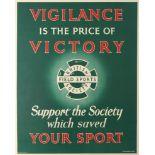 Original Advertising Poster British Field Sports Society Support