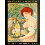 Original Advertising Poster Bordeaux Wines Grand Vins de Bordeaux