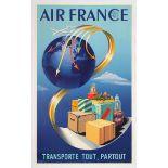 Original Advertising Poster Air France Cargo Airline