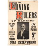 Original Advertising Poster The Living Rulers of Mankind Book