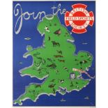 Original Advertising Poster British Field Sports Society Join The BFSS