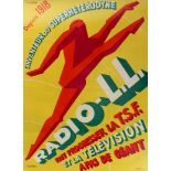Original Advertising Poster Radio LL Art Deco Favre