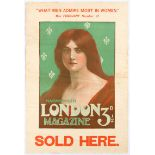 Original Advertising Poster Harmsworth London Magazine