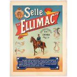 Original Vintage Advertising Poster Horse Saddles France
