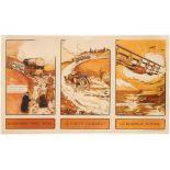 Original Vintage Advertising Poster Cars Airplanes Pas Future Villa