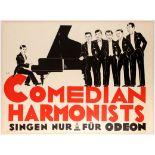 Original Advertising Poster Comedian Harmonists Odeon
