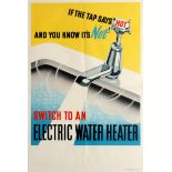 Original Advertising Poster Electric Water Heater
