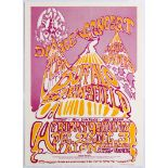 Original Concert Advertising Poster Buffalo Springfield Avalon Ballroom