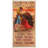 Original Vintage Advertising Poster Corrida Barcelona Spain
