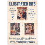 Original Vintage Advertising Poster Illustrated Bits Magazine Victorian
