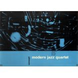 Original Advertising Poster Modern Jazz Quartet Concert Michel Kieser