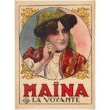 Original Vintage Advertising Poster Clairvoyant Maina Show