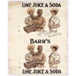 Original Vintage Advertising Poster AG Barr Lime Juice and Soda Soft Drink