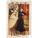 Original Advertising Poster East Lynne Theatre Stage