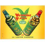 Original Vintage Advertising Poster Verveine du Velay Alcohol Liquer