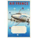 Original Vintage Travel Poster Air France Renluc advertsing poster
