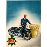 Original Vintage Posters Advertising Posters BSA Motorcycle