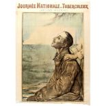 WWI War Poster National Tuberculosis Day Soldier France