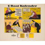 War Poster U-Boot Kalender WWI
