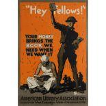 War Poster Hey Fellows WWI USA Books