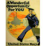 War Poster US Navy Recruitment USA