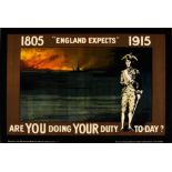 War Poster England Expects WWI UK Nelson