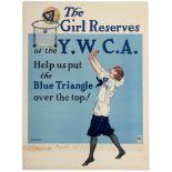 War Poster Women Basketball YWCA Girl Reserves