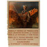 WWI War Poster 3rd National Defense Loan France