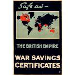 War Poster Safe As The British Empire WWI War Saving