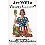 War Poster Are You a Victory Canner? USA WWI