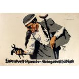 War Poster Ludendorff Ludwig Hohlwein WWI