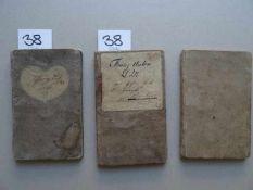 Wanderbücher, Drei, der (aus dem thüringischen Gösen stammenden) Maurer Lutz und Dold, sämtlich in