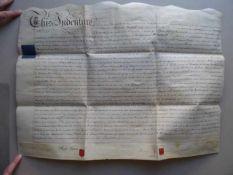 Recht.- Großbritannien.- Handschriftlicher Mietvertrag zwischen Thomas Herod und Henry Denis für