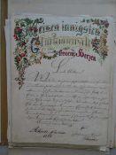Sammlung von 20 handschriftlichen Briefen an das Ehepaar Grimm von deren Kindern und Enkeln.