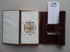 Stammbücher.- 'Souvenir'. Stammbuch aus der Familie Lauer. Meist Leipzig, 1839-1848. 46 Blätter