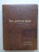 Gästebuch des Parkhotel Bad Salzuflen. Mit zahlreichen handschriftlichen Eintragungen, u.a. von