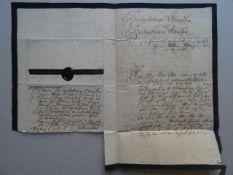 Schleswig-Holstein.- Amoene Gräfin zu Castell und Rantzau (1732 - 1802). Handschriftlicher Brief mit