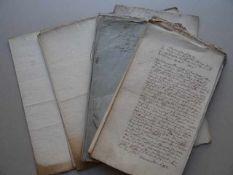 Recht.- Konvolut verschiedener handschriftlicher Urkunden, Amtsschreiben und Handschriften aus dem