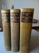 Bibliographie.- Löffler, K. und Kirchner, J. (Hrsg.). Lexikon des gesamten Buchwesens. 3 Bde.