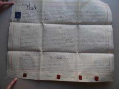 Recht.- Großbritannien.- Handschriftlicher Kaufvertrag zwischen den Nachlassverwaltern Thomas