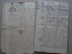 Schleswig-Holstein.- Grödersby.- 12 handschriftliche Haus-, Grundstücks-, Verkaufs- und Erbakten des