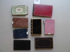 Stammbücher.- Konvolut von 8 Stammbüchern. 1835 - 1914. Mit zahlr. handschriftlichen Einträgen,