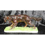 Porzellanfigur Jagdhund/Pointer Entwurf Pierre Jules Mene für Porzellanmanufaktur Nymphenburg,