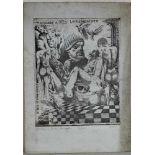 Massimo R Bacarelli: Radierung Hommage a Otto Lackenmacher, Blattgrösse ca. 35 x 25 cm, Druck ca. 25