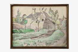 Franz von Zülow (1883-1963) Haus am Bach, Aquarell/Tusche auf Papier; signiert Fr.Zülow, datiert