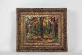 Libal Frantisek (Czech 1896-1974) Herbstwald, Öl auf Karton, signiert, 18x22cm, gerahmt